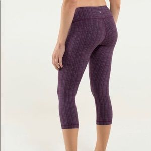 LULULEMON WUNDER UNDER CROPPED TEXTURED ZIGGY WEE